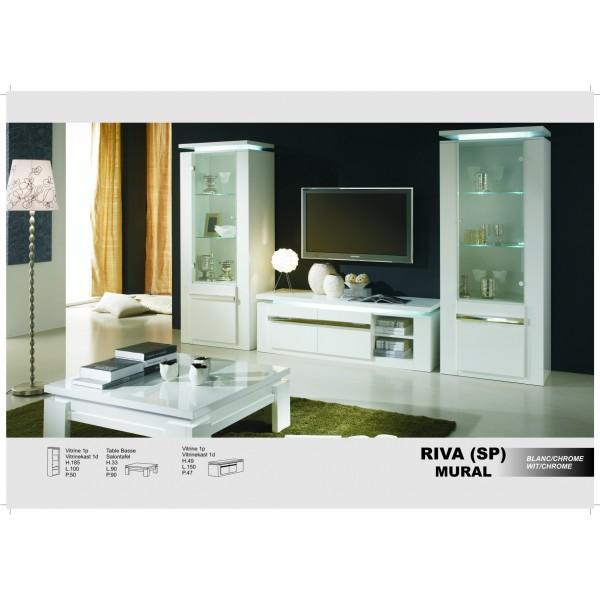 Riva en blanc laqu chrom ou noir d co meubles - Dressoir blanc laque ...