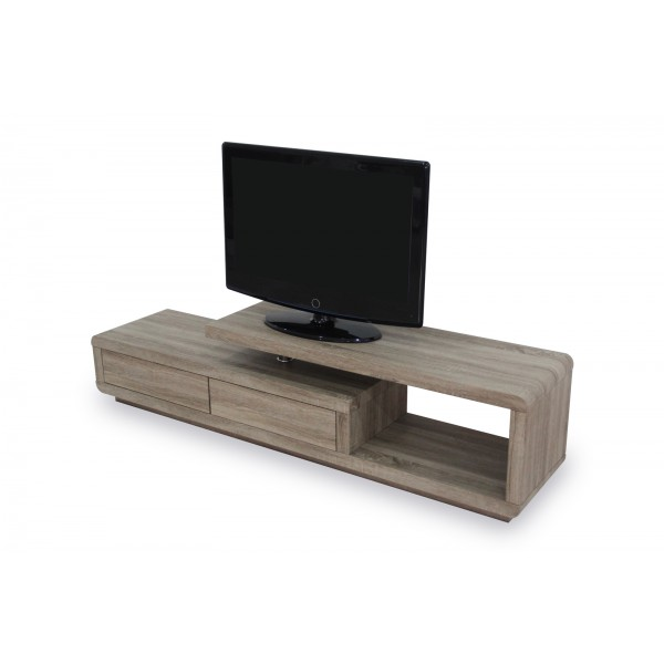 meuble tv hifi crystal blanc laqu d co meubles. Black Bedroom Furniture Sets. Home Design Ideas