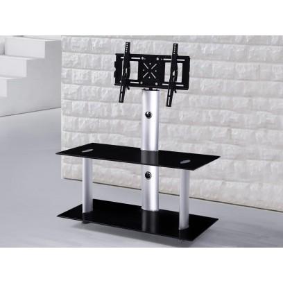 Meuble tv hifi Dalton pour écran plat 110 cm, noir