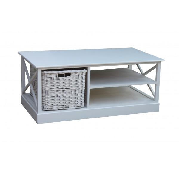 Table de salon kubo avec panier gris d co meubles for Panier deco salon