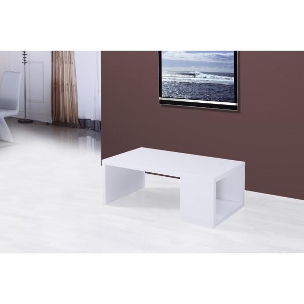 Table de salon Chelsea , blanc laqué - Déco Meubles