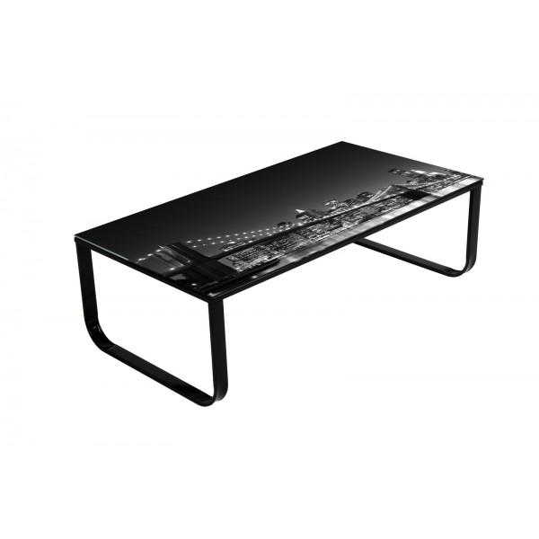 Table de salon new york d co meubles for Table new york