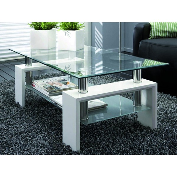 table de salon alana blanc laqu d co meubles. Black Bedroom Furniture Sets. Home Design Ideas