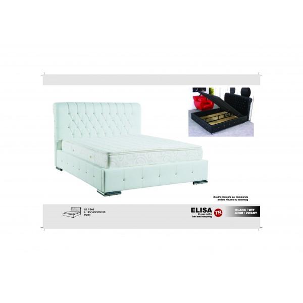 lit elisa avec coffre d co meubles. Black Bedroom Furniture Sets. Home Design Ideas