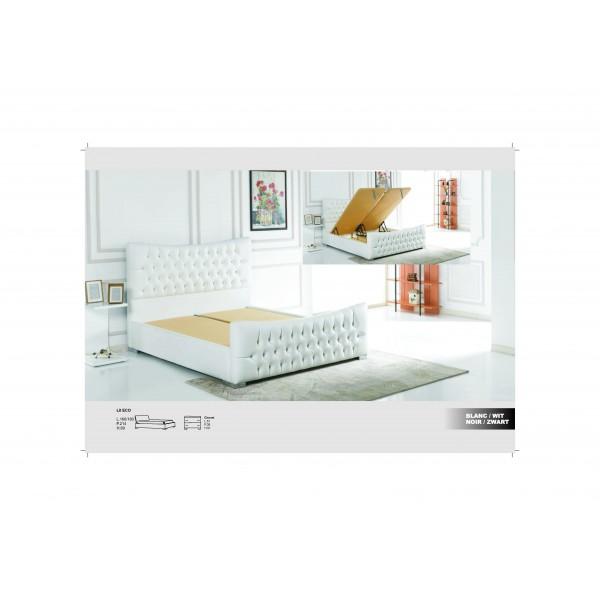 lit leno avec coffre d co meubles. Black Bedroom Furniture Sets. Home Design Ideas