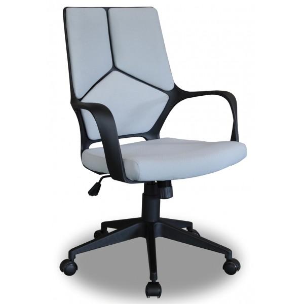 Chaise de bureau tim tissu bleu d co meubles - Chaise de bureau bleu ...