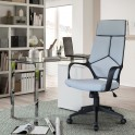 chaise de bureau TOM, tissu,gris