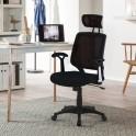 chaise de bureau Detroit, mesh, noir
