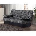 Canapé-lit Regata, motifs, gris/bleu