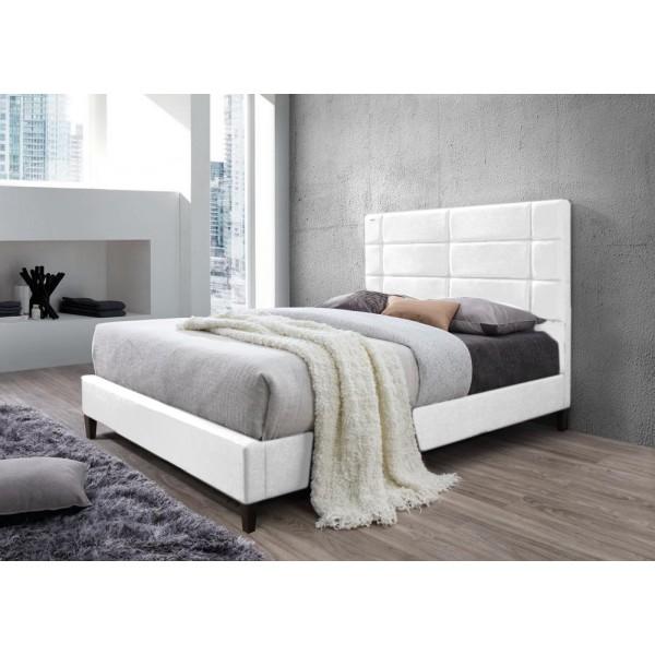 Lit brescia avec sommier pu noir 140x200 cm d co meubles - Lit 140x200 avec sommier ...