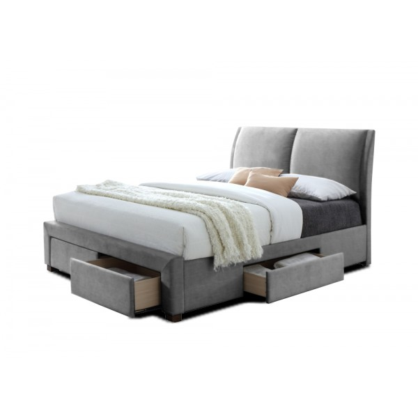 Lit babano avec sommier pu noir 160x200 cm d co meubles - Lit 160x200 avec sommier ...