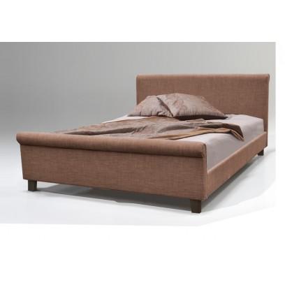 Lit parma avec sommier tissu taupe 160x200 cm d co meubles - Sommier pliable 160x200 ...