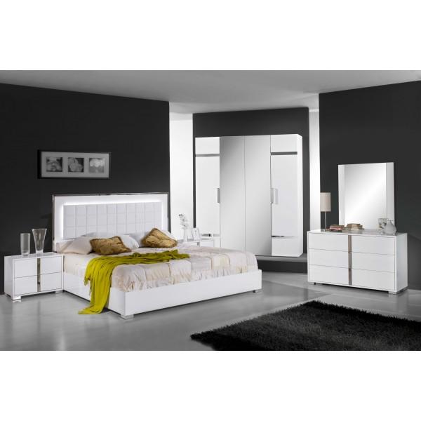 Chambre coucher san marino d co meubles - Destockage meuble chambre ...
